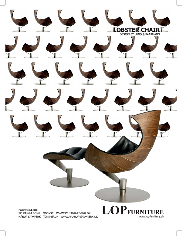 Lobster chair advertisement